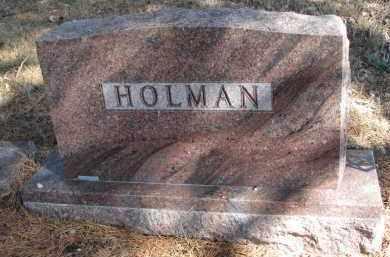 HOLMAN, FAMILY STONE - Burt County, Nebraska | FAMILY STONE HOLMAN - Nebraska Gravestone Photos