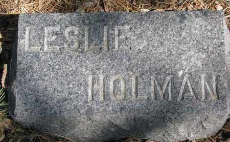 HOLMAN, LESLIE - Burt County, Nebraska   LESLIE HOLMAN - Nebraska Gravestone Photos