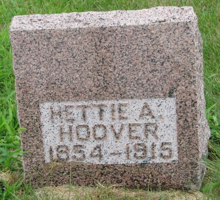 HOOVER, HETTIE A. - Burt County, Nebraska   HETTIE A. HOOVER - Nebraska Gravestone Photos