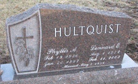 HULTQUIST, LENNARD E. - Burt County, Nebraska | LENNARD E. HULTQUIST - Nebraska Gravestone Photos