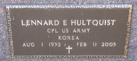 HULTQUIST, LENNARD E. (MILITARY) - Burt County, Nebraska | LENNARD E. (MILITARY) HULTQUIST - Nebraska Gravestone Photos