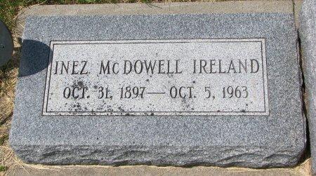 MCDOWELL IRELAND, INEZ - Burt County, Nebraska   INEZ MCDOWELL IRELAND - Nebraska Gravestone Photos