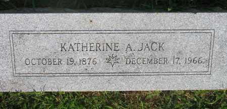JACK, KATHERINE A. - Burt County, Nebraska | KATHERINE A. JACK - Nebraska Gravestone Photos