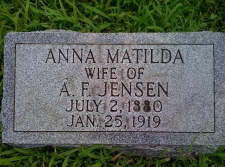 PETERSON JENSEN, ANNA MATILDA - Burt County, Nebraska | ANNA MATILDA PETERSON JENSEN - Nebraska Gravestone Photos
