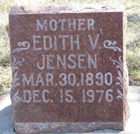 JENSEN, EDITH V. - Burt County, Nebraska | EDITH V. JENSEN - Nebraska Gravestone Photos