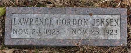 JENSEN, LAWRENCE GORDON - Burt County, Nebraska   LAWRENCE GORDON JENSEN - Nebraska Gravestone Photos
