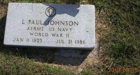 JOHNSON, L. PAUL - Burt County, Nebraska | L. PAUL JOHNSON - Nebraska Gravestone Photos