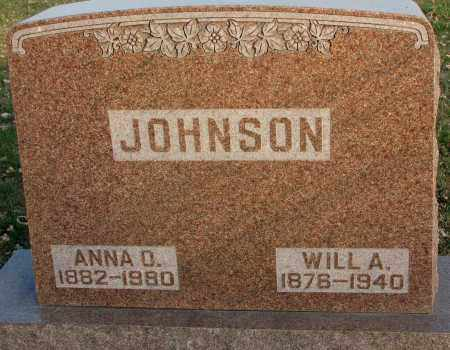 JOHNSON, WILL A. - Burt County, Nebraska | WILL A. JOHNSON - Nebraska Gravestone Photos