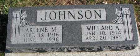 JOHNSON, WILLARD A. - Burt County, Nebraska | WILLARD A. JOHNSON - Nebraska Gravestone Photos