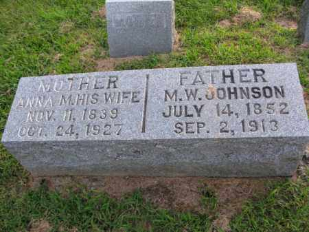 JOHNSON, ANNA M. - Burt County, Nebraska | ANNA M. JOHNSON - Nebraska Gravestone Photos