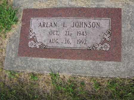 JOHNSON, ARLAN L - Burt County, Nebraska | ARLAN L JOHNSON - Nebraska Gravestone Photos