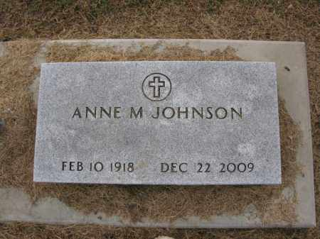 JOHNSON, ANNE M. - Burt County, Nebraska   ANNE M. JOHNSON - Nebraska Gravestone Photos
