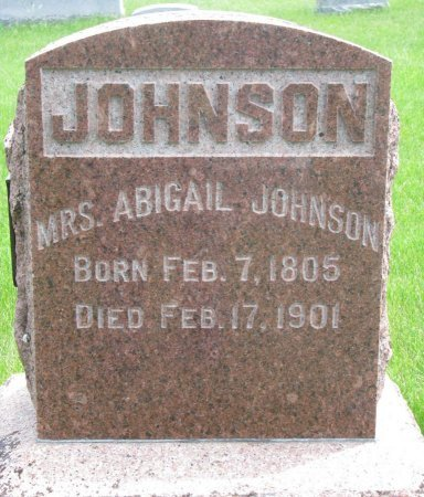 JOHNSON, ABIGAIL - Burt County, Nebraska | ABIGAIL JOHNSON - Nebraska Gravestone Photos