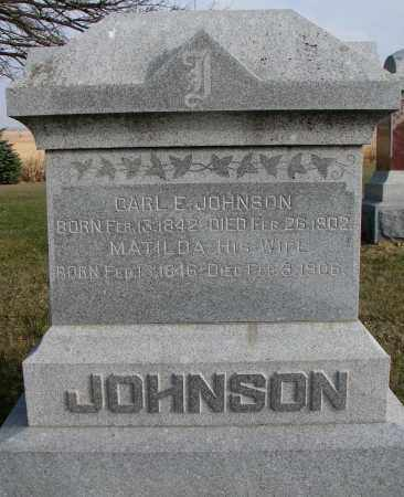 JOHNSON, CARL E. - Burt County, Nebraska | CARL E. JOHNSON - Nebraska Gravestone Photos