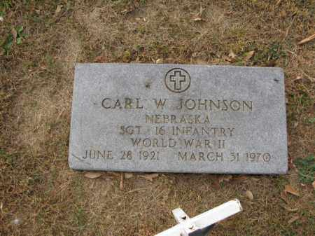 JOHNSON, CARL W. - Burt County, Nebraska | CARL W. JOHNSON - Nebraska Gravestone Photos