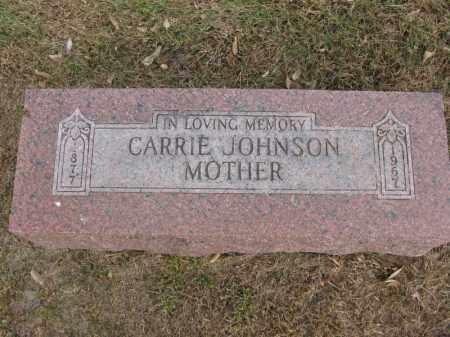 JOHNSON, CARRIE - Burt County, Nebraska | CARRIE JOHNSON - Nebraska Gravestone Photos