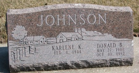 JOHNSON, DONALD B. - Burt County, Nebraska | DONALD B. JOHNSON - Nebraska Gravestone Photos