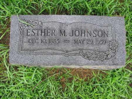 JOHNSON, ESTHER M. - Burt County, Nebraska   ESTHER M. JOHNSON - Nebraska Gravestone Photos
