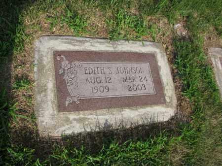 JOHNSON, EDITH S. - Burt County, Nebraska   EDITH S. JOHNSON - Nebraska Gravestone Photos