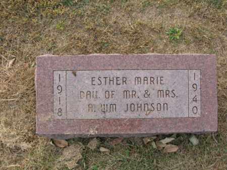 JOHNSON, ESTHER MARIE - Burt County, Nebraska | ESTHER MARIE JOHNSON - Nebraska Gravestone Photos