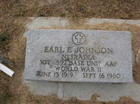 JOHNSON, EARL E. (MILITARY MARKER) - Burt County, Nebraska | EARL E. (MILITARY MARKER) JOHNSON - Nebraska Gravestone Photos