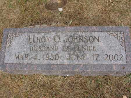 JOHNSON, ELROY O. - Burt County, Nebraska | ELROY O. JOHNSON - Nebraska Gravestone Photos