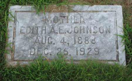 JOHNSON, EDITH A.E. - Burt County, Nebraska   EDITH A.E. JOHNSON - Nebraska Gravestone Photos