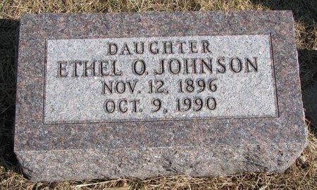 JOHNSON, ETHEL O. - Burt County, Nebraska | ETHEL O. JOHNSON - Nebraska Gravestone Photos