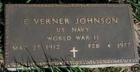 JOHNSON, E. VERNER (WW II) - Burt County, Nebraska | E. VERNER (WW II) JOHNSON - Nebraska Gravestone Photos