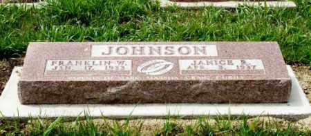JOHNSON, JANICE B. - Burt County, Nebraska | JANICE B. JOHNSON - Nebraska Gravestone Photos