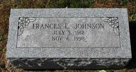 JOHNSON, FRANCES E. - Burt County, Nebraska | FRANCES E. JOHNSON - Nebraska Gravestone Photos