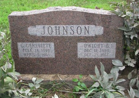 JOHNSON, G. GENEVIEVE - Burt County, Nebraska | G. GENEVIEVE JOHNSON - Nebraska Gravestone Photos