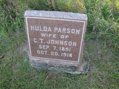 PARSON JOHNSON, HULDA - Burt County, Nebraska | HULDA PARSON JOHNSON - Nebraska Gravestone Photos
