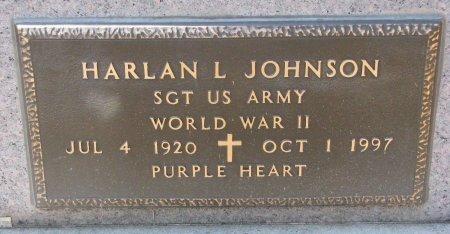 JOHNSON, HARLAN L. (MILITARY) - Burt County, Nebraska | HARLAN L. (MILITARY) JOHNSON - Nebraska Gravestone Photos