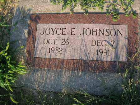 JOHNSON, JOYCE E. - Burt County, Nebraska   JOYCE E. JOHNSON - Nebraska Gravestone Photos