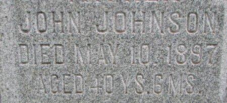 JOHNSON, JOHN (CLOSE UP) - Burt County, Nebraska | JOHN (CLOSE UP) JOHNSON - Nebraska Gravestone Photos