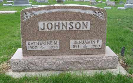 JOHNSON, BENJAMIN F. - Burt County, Nebraska | BENJAMIN F. JOHNSON - Nebraska Gravestone Photos