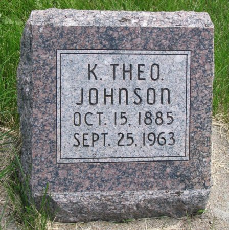 JOHNSON, K. THEODORE - Burt County, Nebraska | K. THEODORE JOHNSON - Nebraska Gravestone Photos