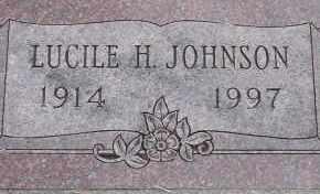 JOHNSON, LUCILE H. - Burt County, Nebraska | LUCILE H. JOHNSON - Nebraska Gravestone Photos