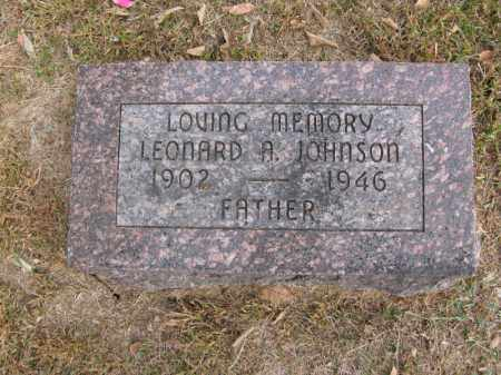 JOHNSON, LEONARD A. - Burt County, Nebraska   LEONARD A. JOHNSON - Nebraska Gravestone Photos