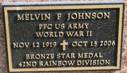JOHNSON, MELVIN F. (WW II) - Burt County, Nebraska | MELVIN F. (WW II) JOHNSON - Nebraska Gravestone Photos