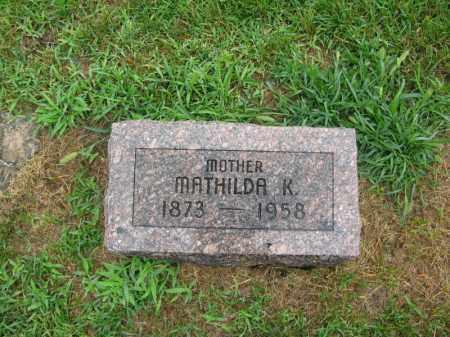 JOHNSON, MATHILDA K. - Burt County, Nebraska | MATHILDA K. JOHNSON - Nebraska Gravestone Photos