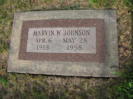 JOHNSON, MARVIN W. - Burt County, Nebraska | MARVIN W. JOHNSON - Nebraska Gravestone Photos