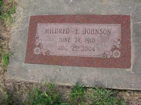JOHNSON, MILDRED E. - Burt County, Nebraska | MILDRED E. JOHNSON - Nebraska Gravestone Photos