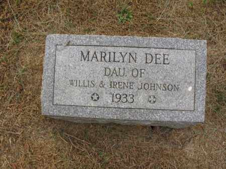 JOHNSON, MARILYN DEE - Burt County, Nebraska   MARILYN DEE JOHNSON - Nebraska Gravestone Photos
