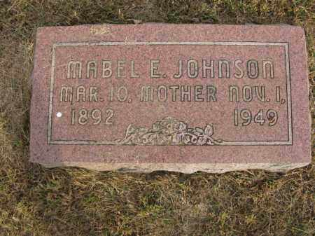 JOHNSON, MABEL E. - Burt County, Nebraska | MABEL E. JOHNSON - Nebraska Gravestone Photos