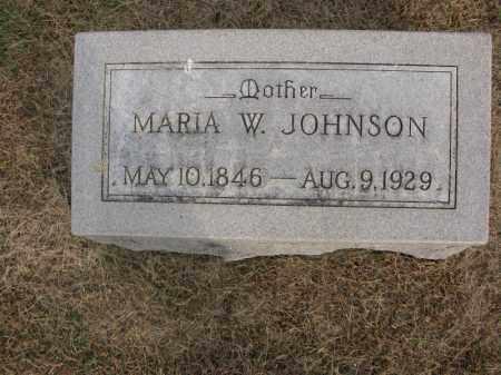JOHNSON, MARIA W. - Burt County, Nebraska | MARIA W. JOHNSON - Nebraska Gravestone Photos