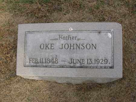 JOHNSON, OKE - Burt County, Nebraska | OKE JOHNSON - Nebraska Gravestone Photos