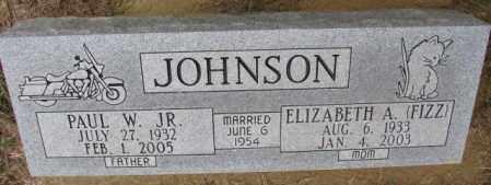 JOHNSON, ELIZABETH A. - Burt County, Nebraska | ELIZABETH A. JOHNSON - Nebraska Gravestone Photos
