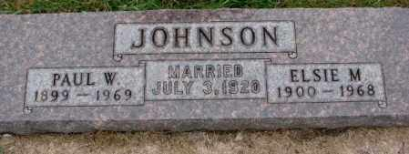 JOHNSON, ELSIE M. - Burt County, Nebraska | ELSIE M. JOHNSON - Nebraska Gravestone Photos